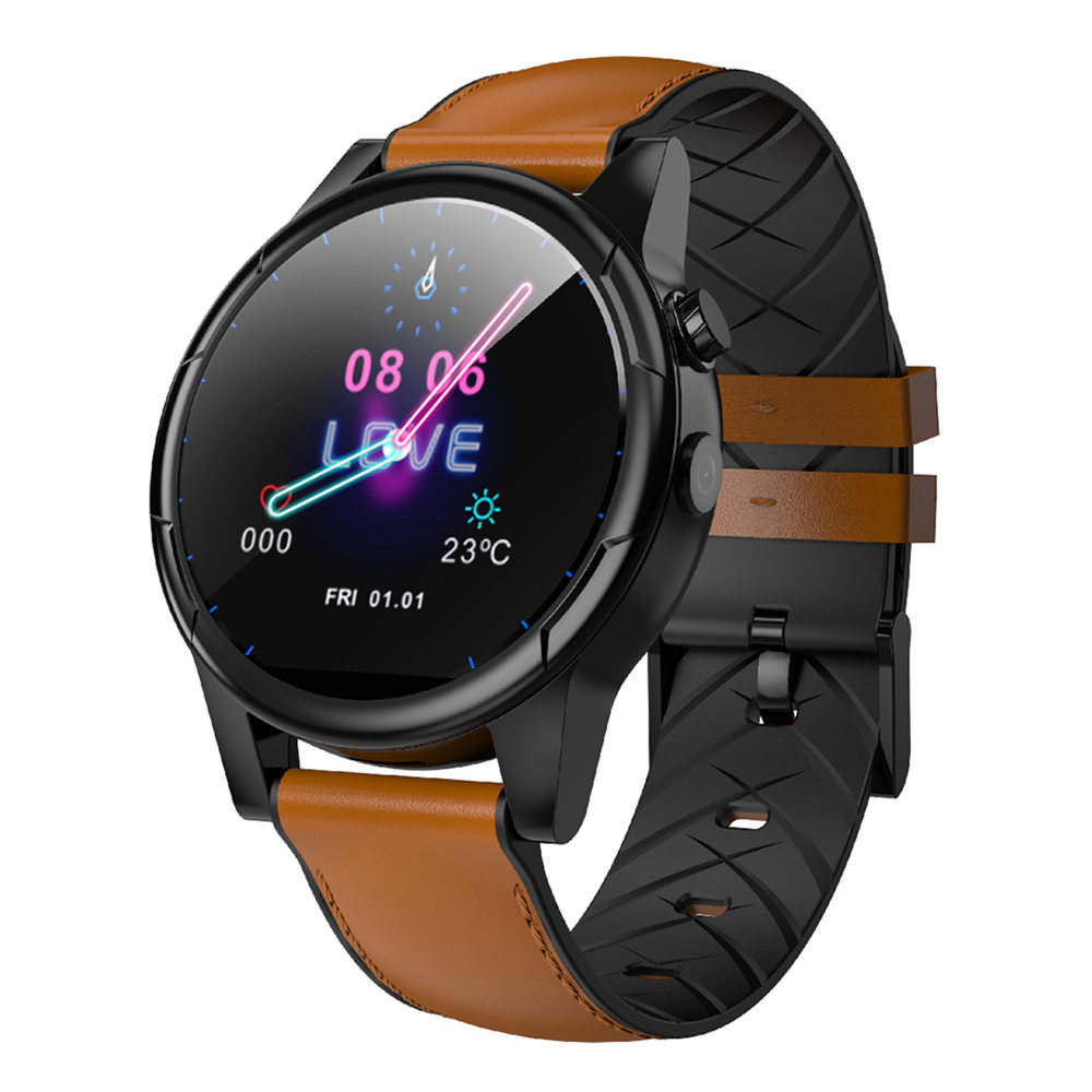 Makibes M361 4G Smartwatch Phone Android 7.1 MTK6739 1GB RAM 16GB ROM 1.61 pollici GPS schermo - Marrone