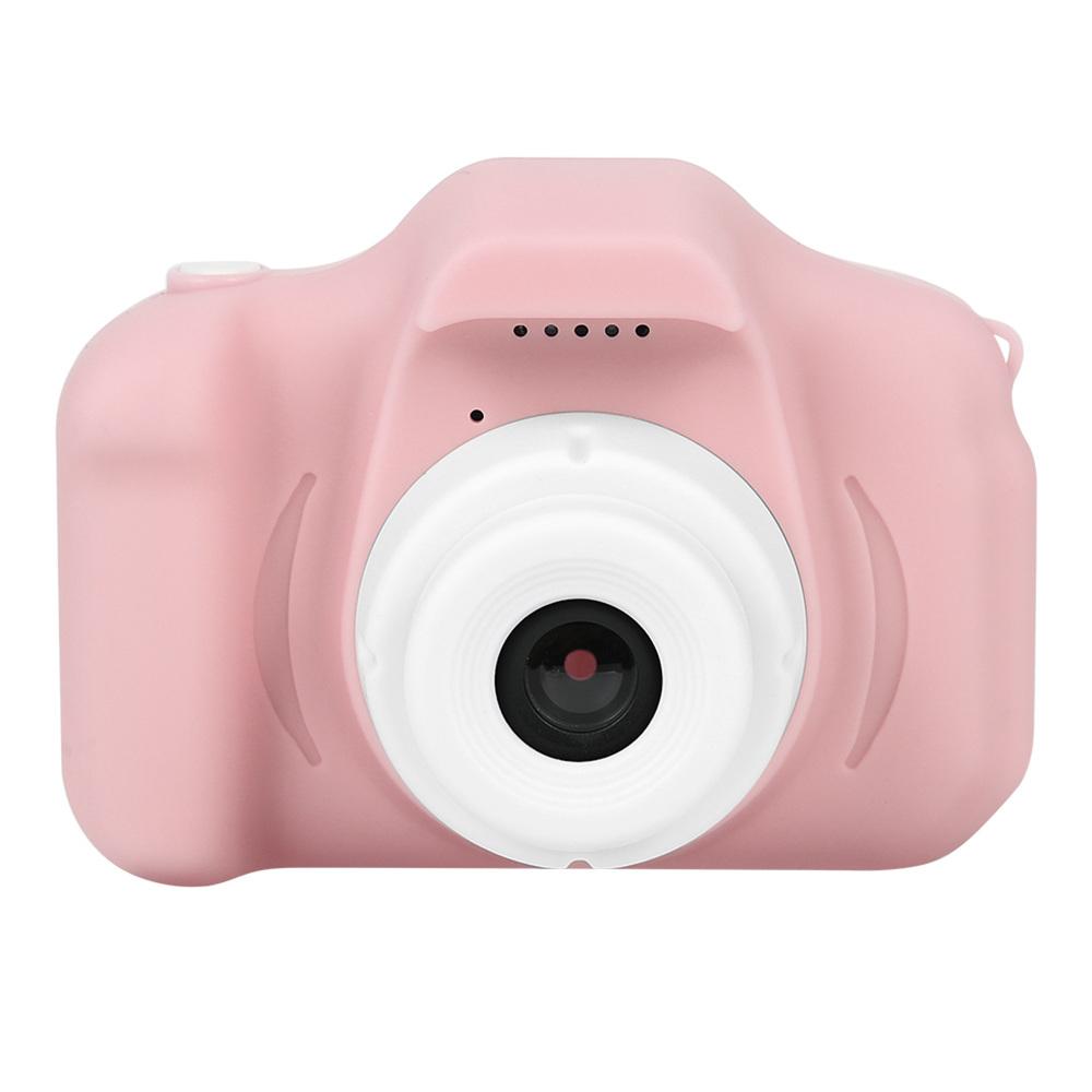 Mini Digital Camera Cartoon Toddler Toys Children Birthday Gift 720P - Pink