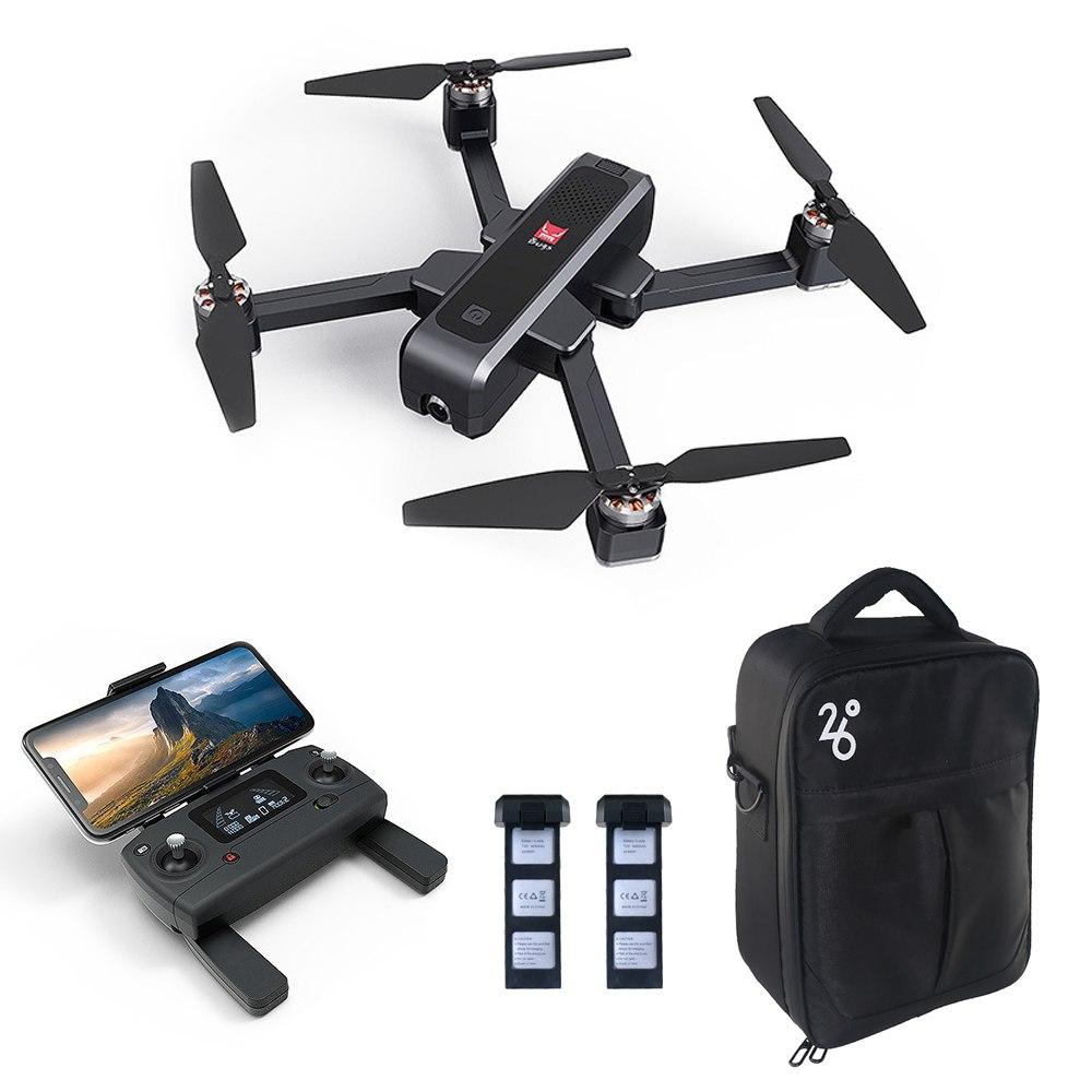 MJX Bugs 4 W B4W 2K 5G WIFI FPV GPS Foldable RC Drone With Single-axis Gimbal Follow Me Mode RTF - Three Batteries with Bag