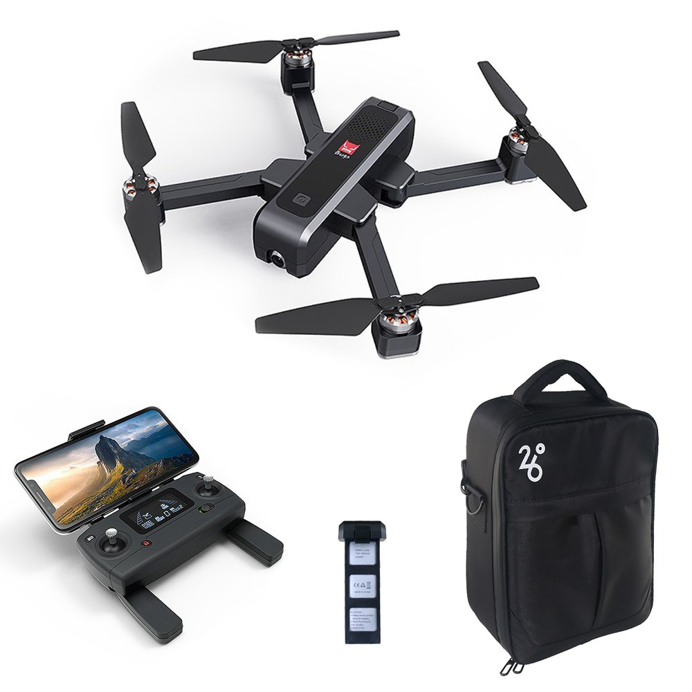 MJX Bugs 4 W B4W 2K 5G WIFI FPV GPS الطائرة بدون طيار RC بدون طيار مع محور واحد Gimbal اتبعني Mode RTF - بطاريتان مع حقيبة