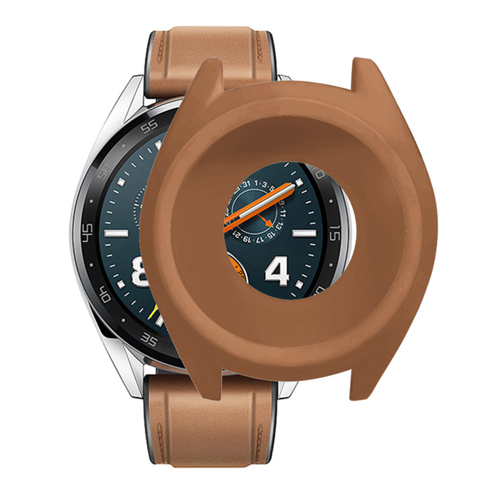 Cover per orologio in silicone sostitutivo per Huawei Active Watch GT - Caffè