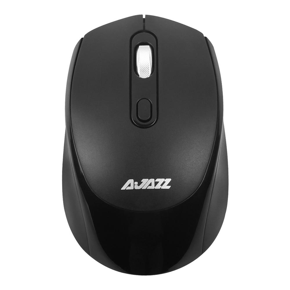 Ajazz 120I 1600DPI Ρυθμιζόμενο ασύρματο ποντίκι γραφικών 2.4G γραφείου εργονομίας - Μαύρο
