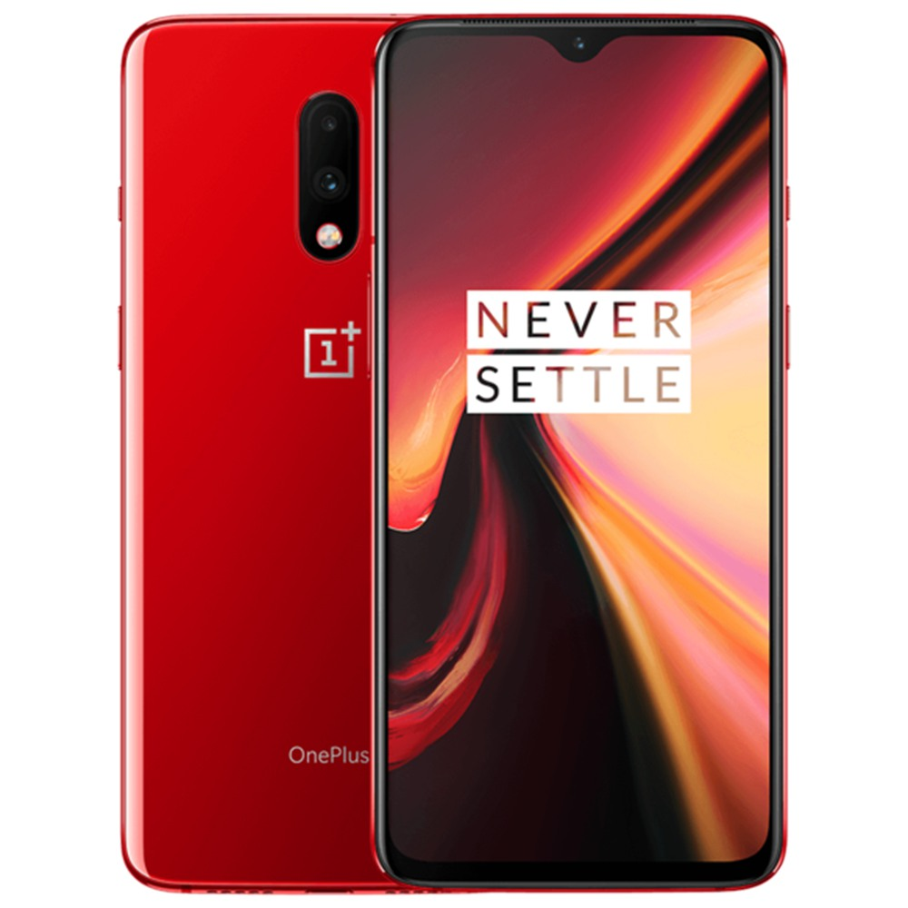 Oneplus 7 6.41 Inch 4G LTE Snapdragon per smartphone 855 8GB 256GB 48.0MP + 5.0MP Doppie telecamere posteriori Android 9 In-display Fingerprint NFC Fast Charge ROM globale - Rosso
