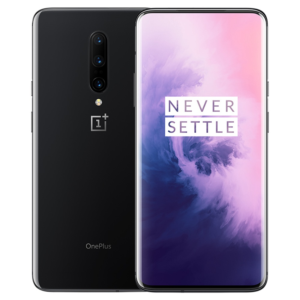 OnePlus 7 Pro Pop-upcamera 6.67 Inch 4G LTE Smartphone Snapdragon 855 8GB 256GB 48.0MP + 8.0MP + 16.0MP Drievoudige achteruitrijcamera's Android 9 In-display Vingerafdruk NFC Snel laden Global ROM - Mirror Grey