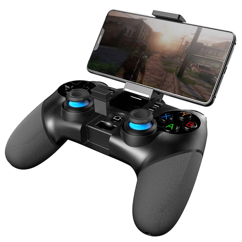iOSのAndroidスマートフォン/ PC / TV /タブレット用の9156GHz USBレシーバー付きIpega PG-2.4ワイヤレスBluetoothジョイスティックゲームコントローラ - ブラック