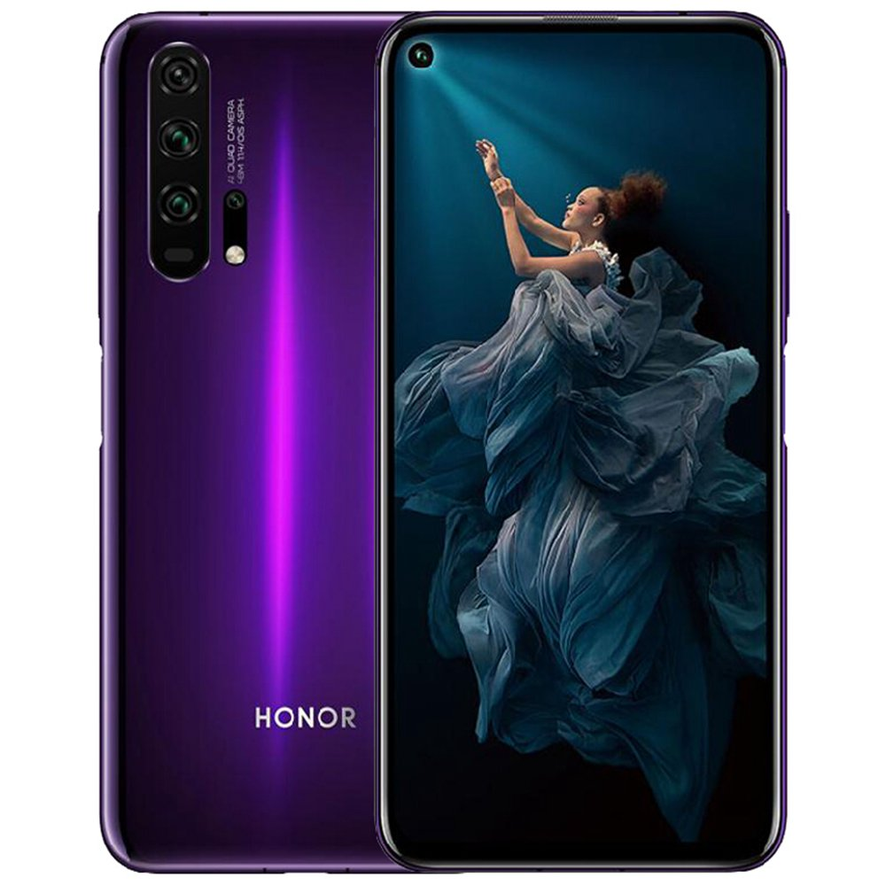 HUAWEI Honor 20 Pro CN Version 6.26 Inch 4G LTE Smartphone Kirin 980 8GB 256GB 48.0MP + 16.0MP + 8.0MP + 2.0MP Quad Rear Cameras Android 9 Fast Charging Side-mounted Fingerprint - Purple