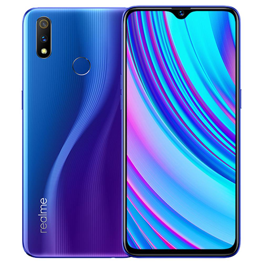 Realme X Lite CN Version 6.3 Inch 4G LTE Smartphone Snapdragon 710 4GB 64GB 16.0MP + 5.0MP Dual Rear Cameras Android 9 Touch ID Fast Charging - Blue