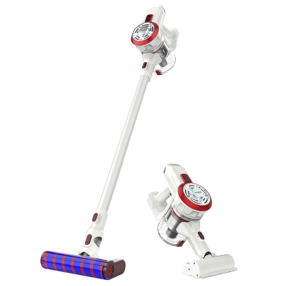 Dibea V008 Pro Cordless Stick Vacuum Cleaner 17000 Pa Suction Two Cleaning Modes 2-in-1 Handheld Car Vacuum - White EU Plug