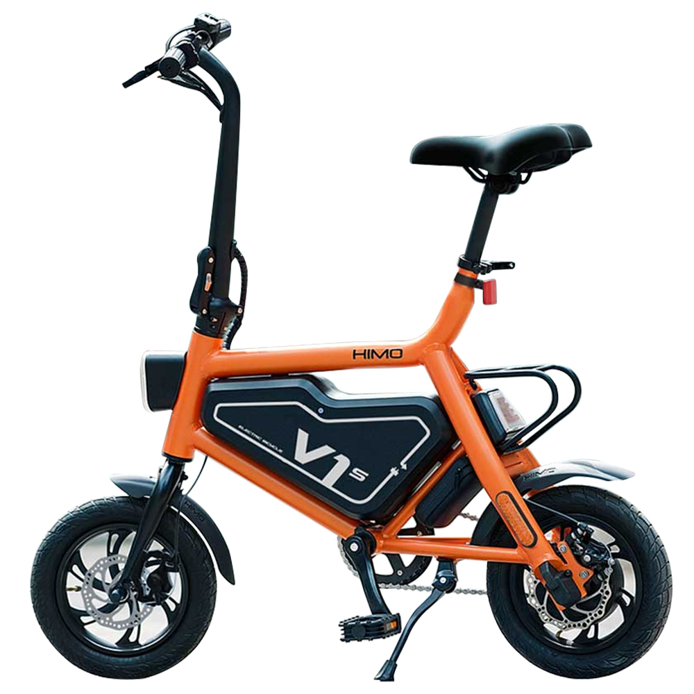 Xiaomi HIMO V1S Portable Folding Electric Moped Bicycle Ergonomic Design Multi-mode Riding - Orange