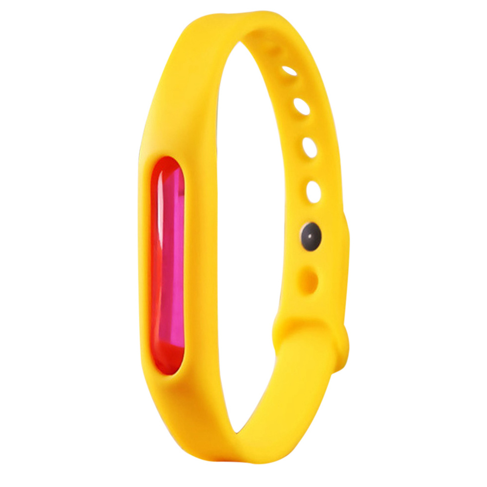 Mosquito Repellent Bracelet Protection Silicone Wristband Environmental Friendly Safe For Kids-Yellow