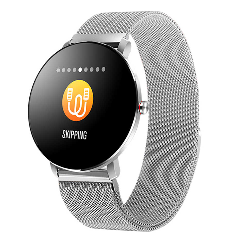Makibes K9 Smart Watch 1.3 Inch IPS Screen Heart Rate Blood Pressure Monitor IP68 Fitness Tracker - Silver