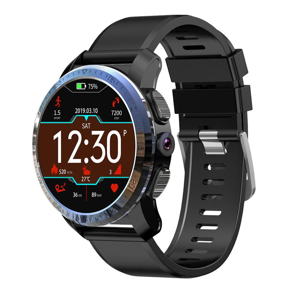 Makibes M3 pro 4G Smartwatch Telefono Android 7.1 MTK6739 NRF52840 Dual-chip 3GB RAM 32GB ROM 1.39 Inch GPS schermo - Nero