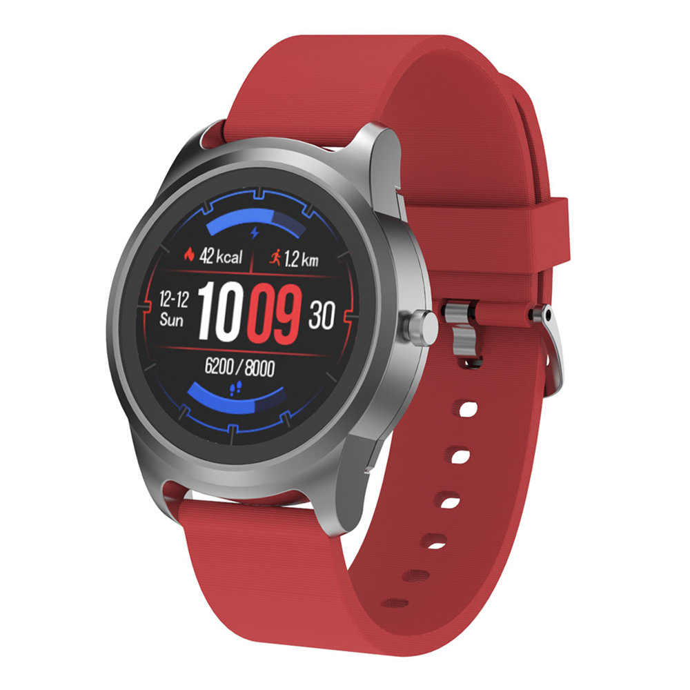 S28 Smart Watch 1.3 Inch IPS Screen Heart Rate Monitor IP68 Muti-Sports Fitness Tracker - Red