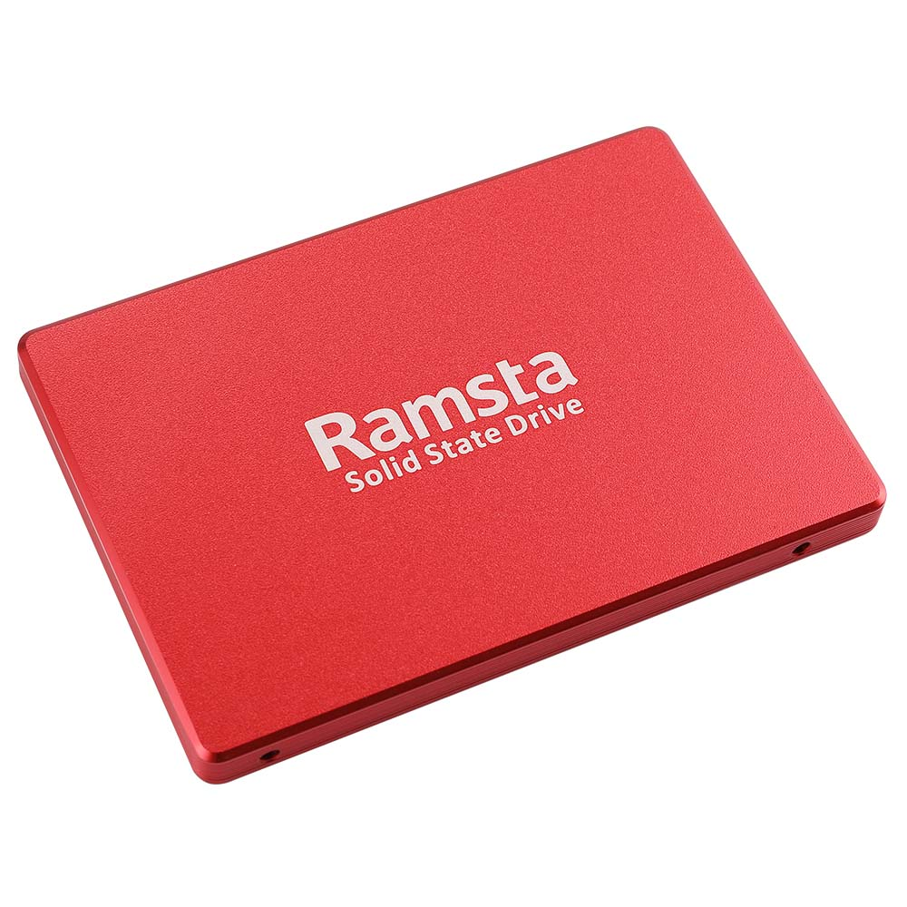 Ramsta S800 480GB SATA3 High Speed SSD Solid State Drive Hard Disk 2.5 Inch Sequential Read 562MB/s - Red