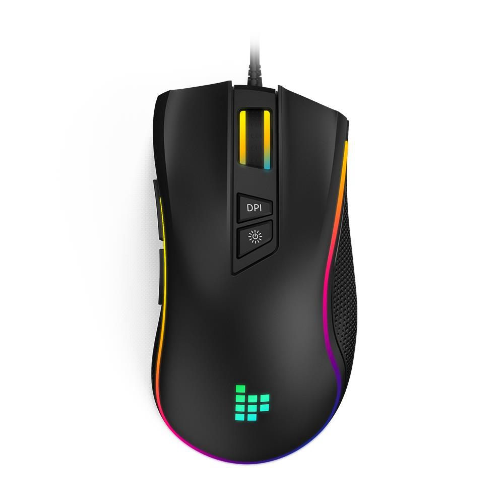 Tronsmart TG007 Wired Gaming Mouse 16.8 Million RGB 9 Programmable Buttons 7200 DPI  For PC Games-Black