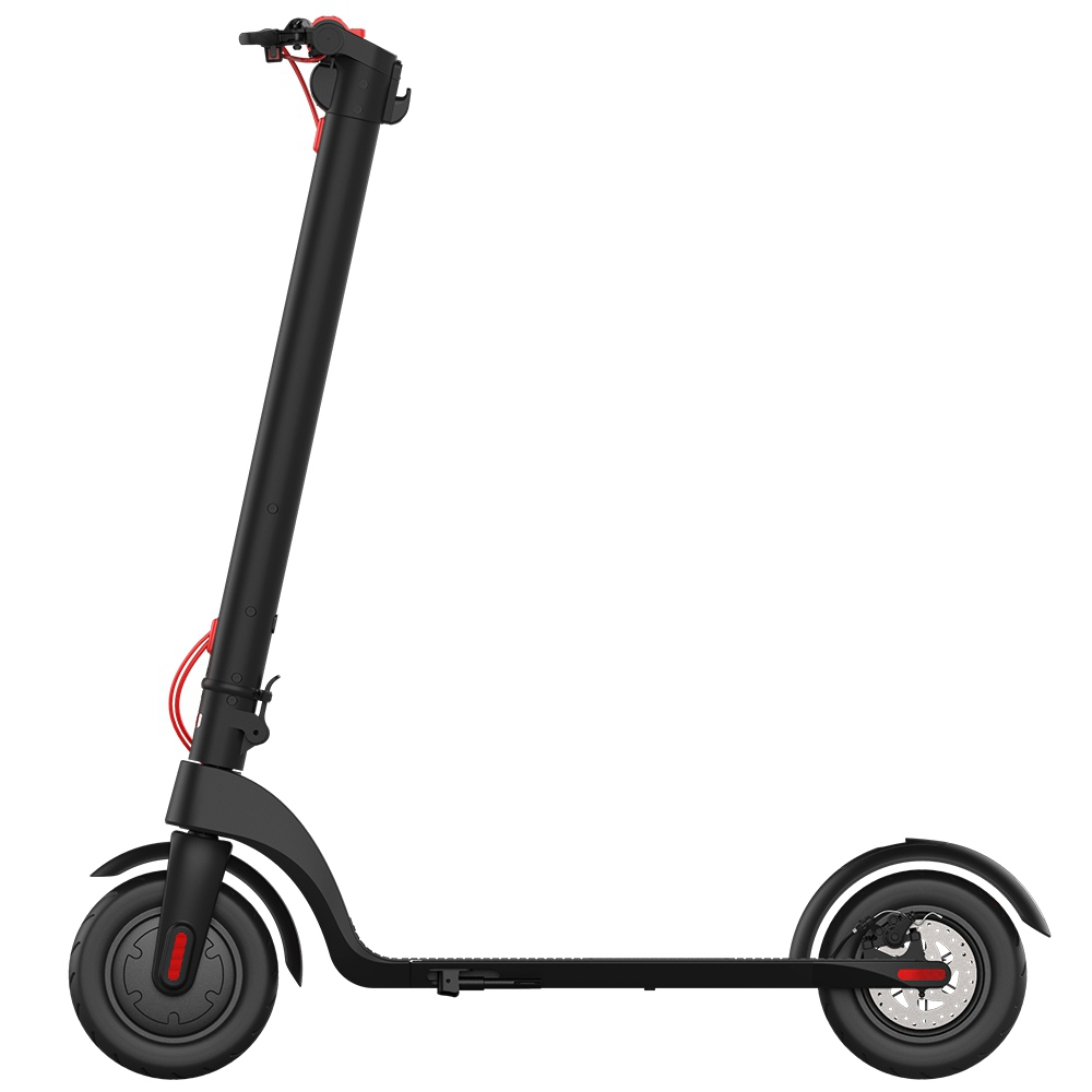 HX X7 Electric Foldable Scooter 350W Motor LCD Display 3 Speed Modes Max 25km/h IP54 Waterproof - Black Red