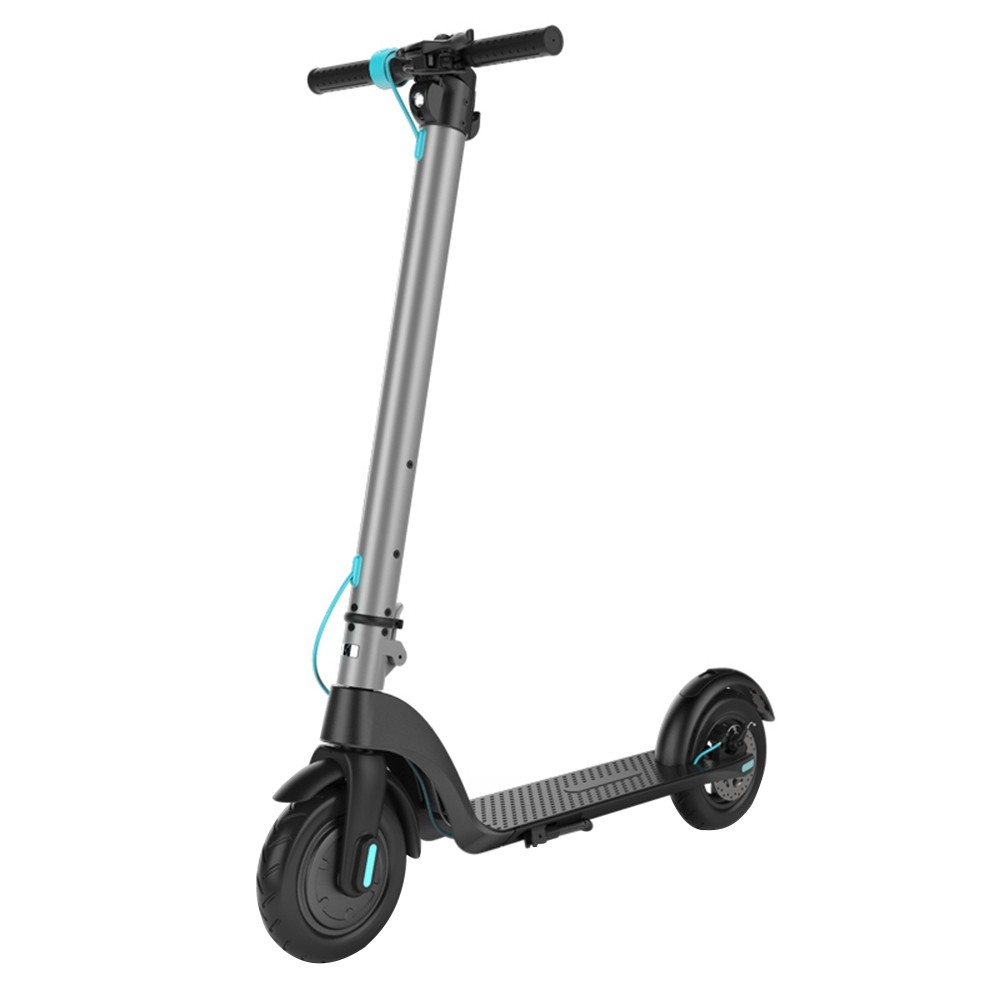 HX X7 Electric Foldable Scooter 350W Motor LCD Display 3 Speed Modes Max 25km/h IP54 Waterproof - Gray blue
