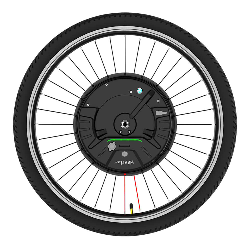iMortor3  Permanent Magnet DC Motor Bicycle Wheel 26 Inch With App Control Adjustable Speed Mode - EU Plug