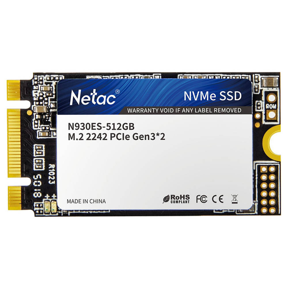 Netac N930ES NVMe M.2 512GB SSD belső szilárdtest-meghajtó olvasási sebessége 2000MB / s