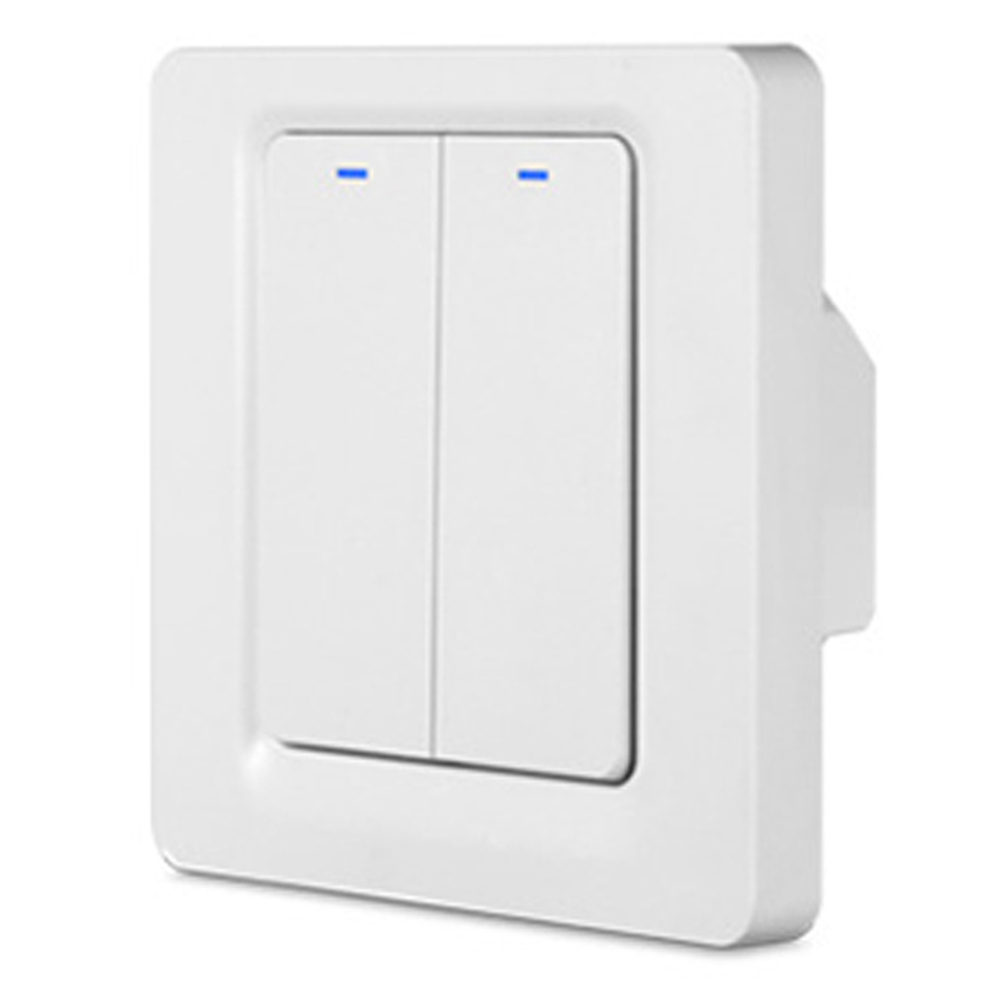 WiFi Smart Wall Switch APP Fernbedienung - 2 Gang Weiß