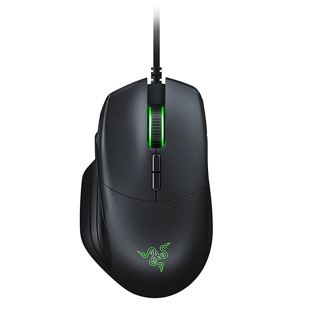 Razer Basilisk Wired Gaming Mouse Chroma Habilitado RGB FPS 16000 DPI Personalizável Scroll Wheel Resistance - Preto