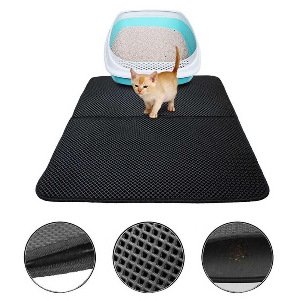 Pet Cat Litter Mat EVA Double Layer Dog Mat Clean Pad 45*60cm - L фото
