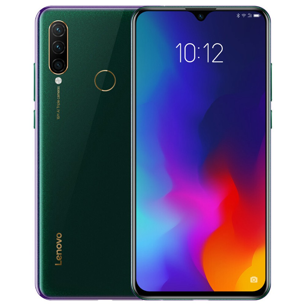 Lenovo Z6 Lite 6.3 Inch 4G LTE Smartphone Snapdragon 710 4GB 64GB 16.0MP+8.0MP+5.0MP Triple Rear Cameras ZUI 11 Touch ID Fast Charge Global ROM - Green