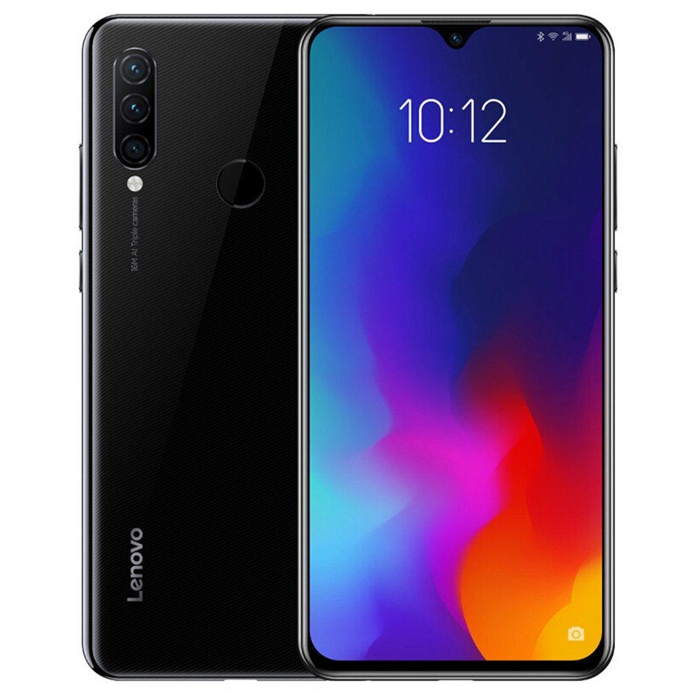 Lenovo Z6 Lite 6.3 Inch 4G LTE Smartphone Snapdragon 710GB 6GB 128GB 16.0MP + 8.0MP Makamera Akumbuyo atatu ZUI 5.0 Touch ID Mwamsanga ROM Global - Black