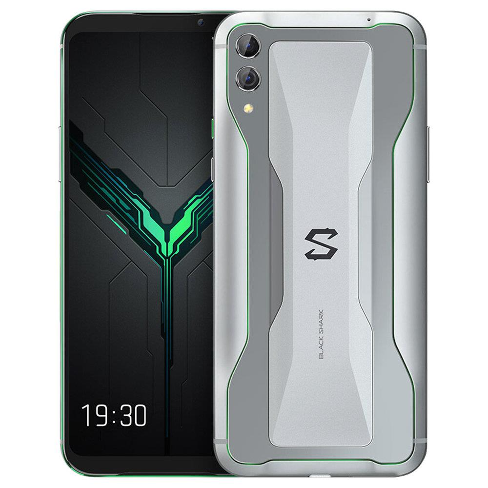 Xiaomi Black Shark 2 6.39 Inch 4G LTE Gaming Smartphone Snapdragon 855 12GB 256GB 48.0MP+12.0MP Dual Rear Cameras Android 8.1 In-display Fingerprint Quick Charging Global Version - Silver