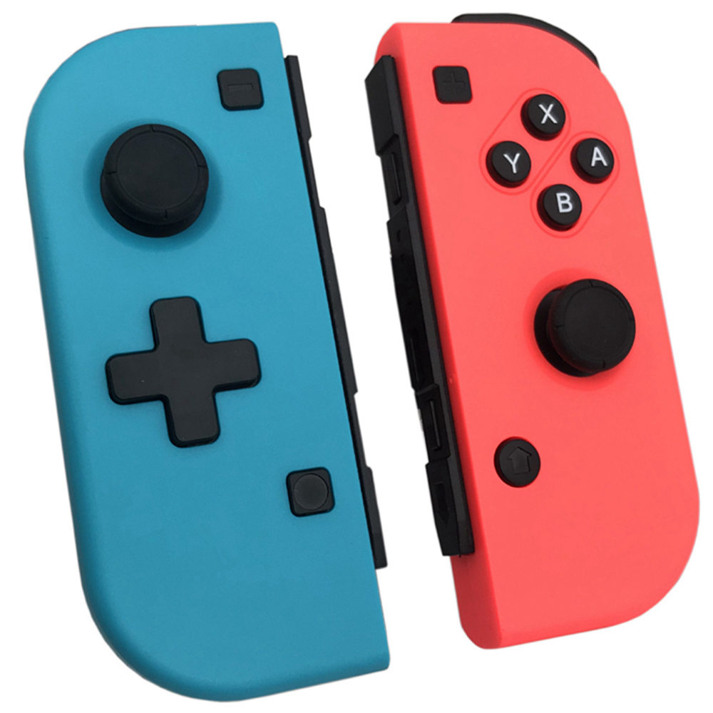 JRH-8577 Wireless Bluetooth 3.0 Game Controller Detachable Joystick for Switch Gamepad - Blue and Red