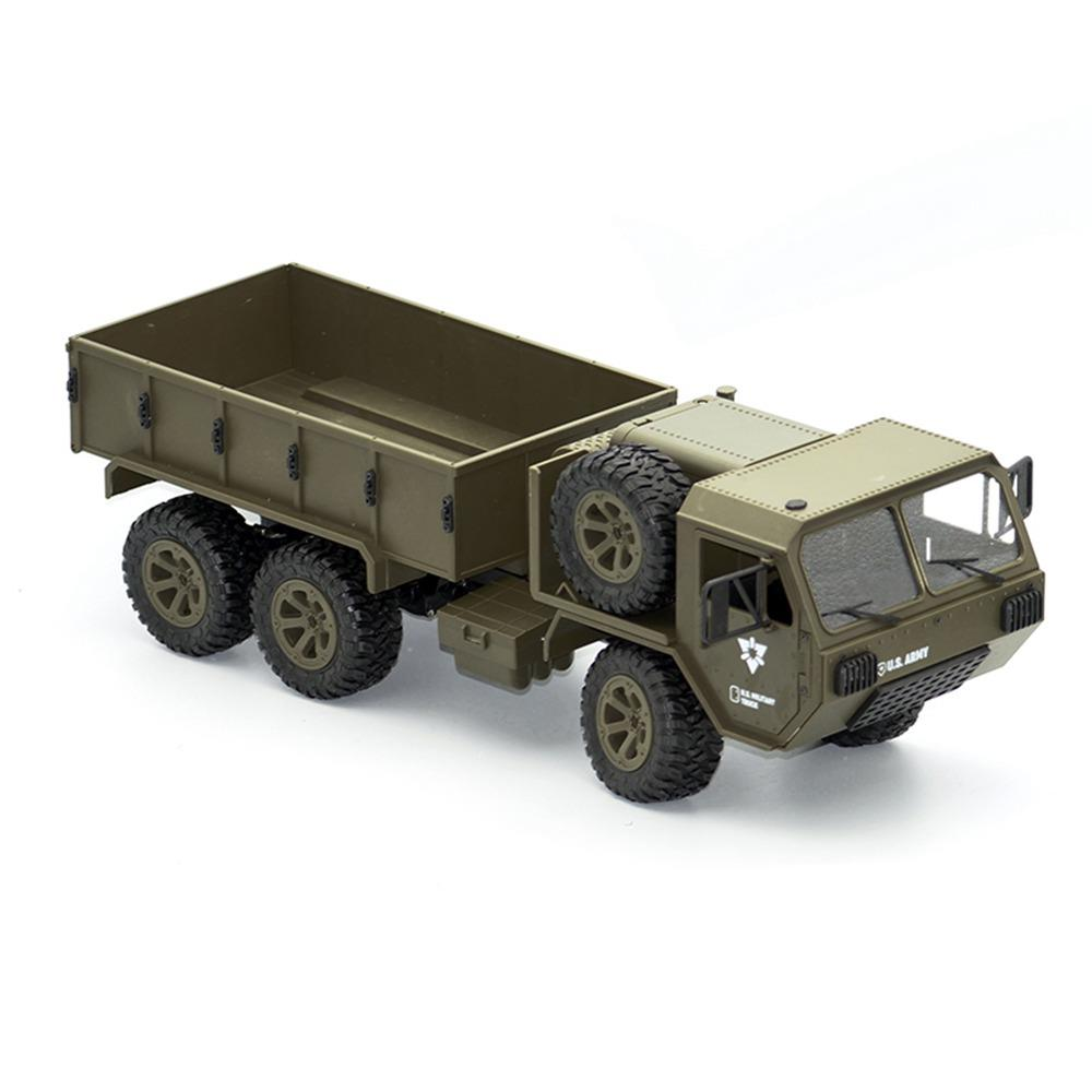 Fayee FY004A 2.4G 1/16 6WD Proportional Control US Army Military Truck RC Car RTR - Army Green