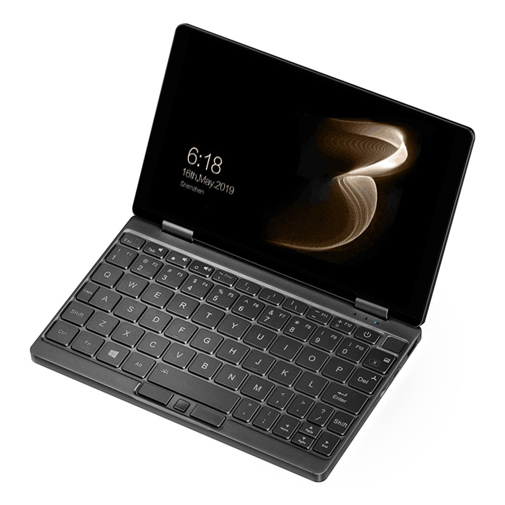 Ein Netbook Ein Mix 3S Yoga Pocket Laptop Intel Core M3-8100Y Dual-Core 8.4 & quot; IPS-Bildschirm 2500 * 1600 Touch ID Windows 10 16 GB DDR3 512 GB PCI-E SSD - Schwarz