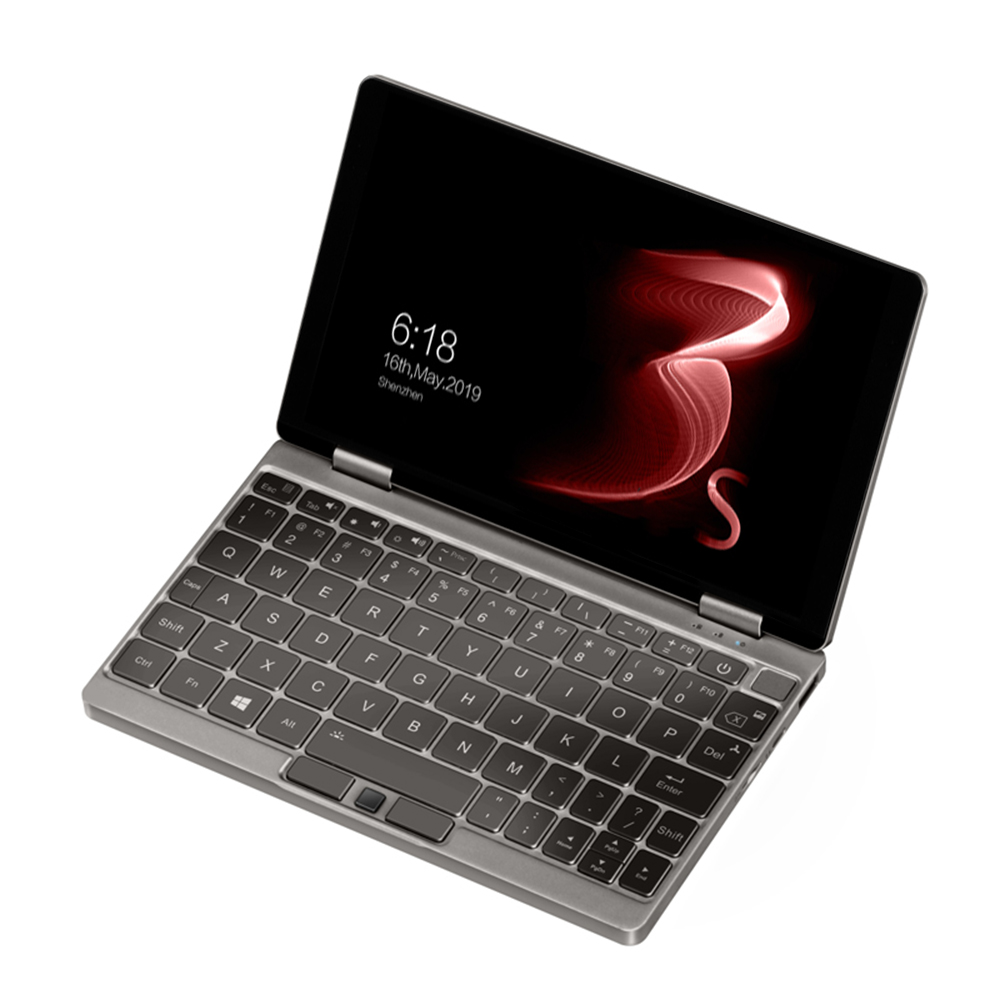One Netbook One Mix 3S Yoga Pocket Laptop Intel Core i7-8500Y Dual Core 8.4 & quot; IPS-scherm 2500 * 1600 Touch ID Windows 10 16GB DDR3 512GB PCI-E SSD - Platina