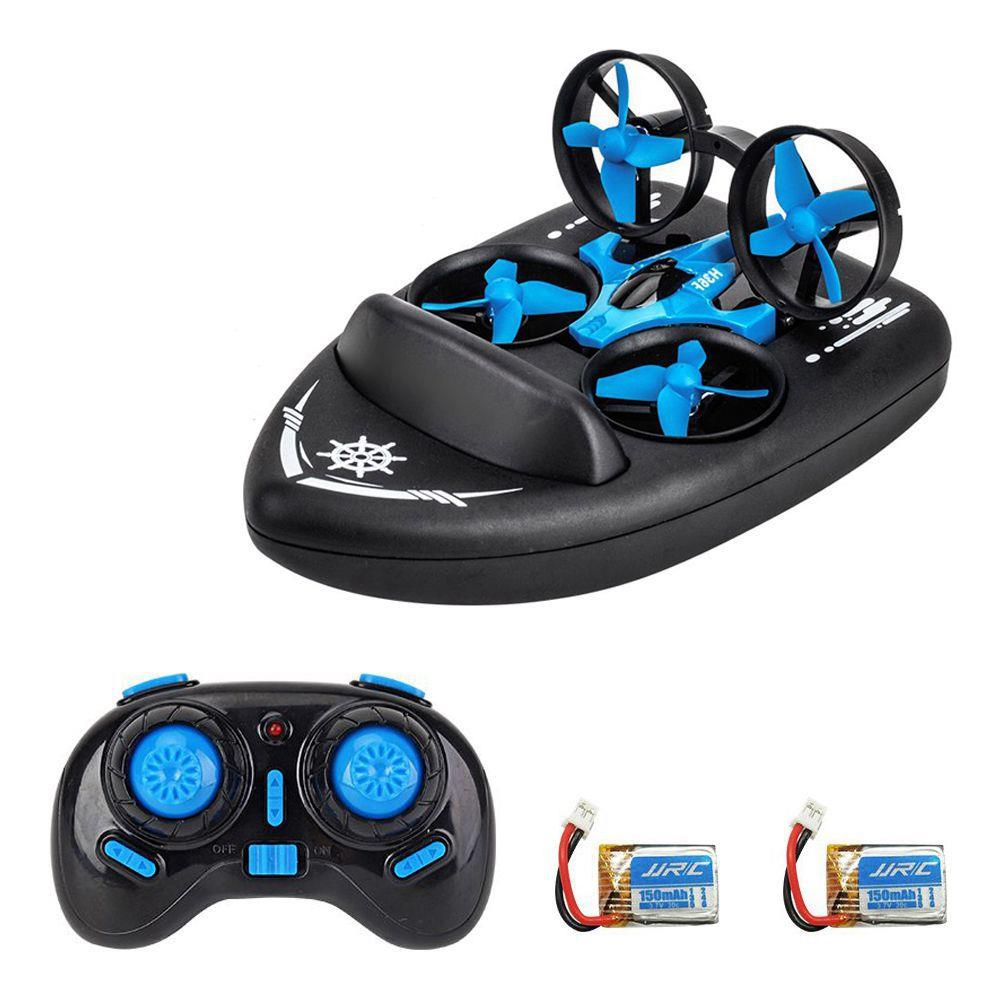 JJRC H36F Terzetto 3 IN 1 Flying Air Boat Land Driving Mode Detachable One Key Return RC Quadcopter RTF - Three Batteries