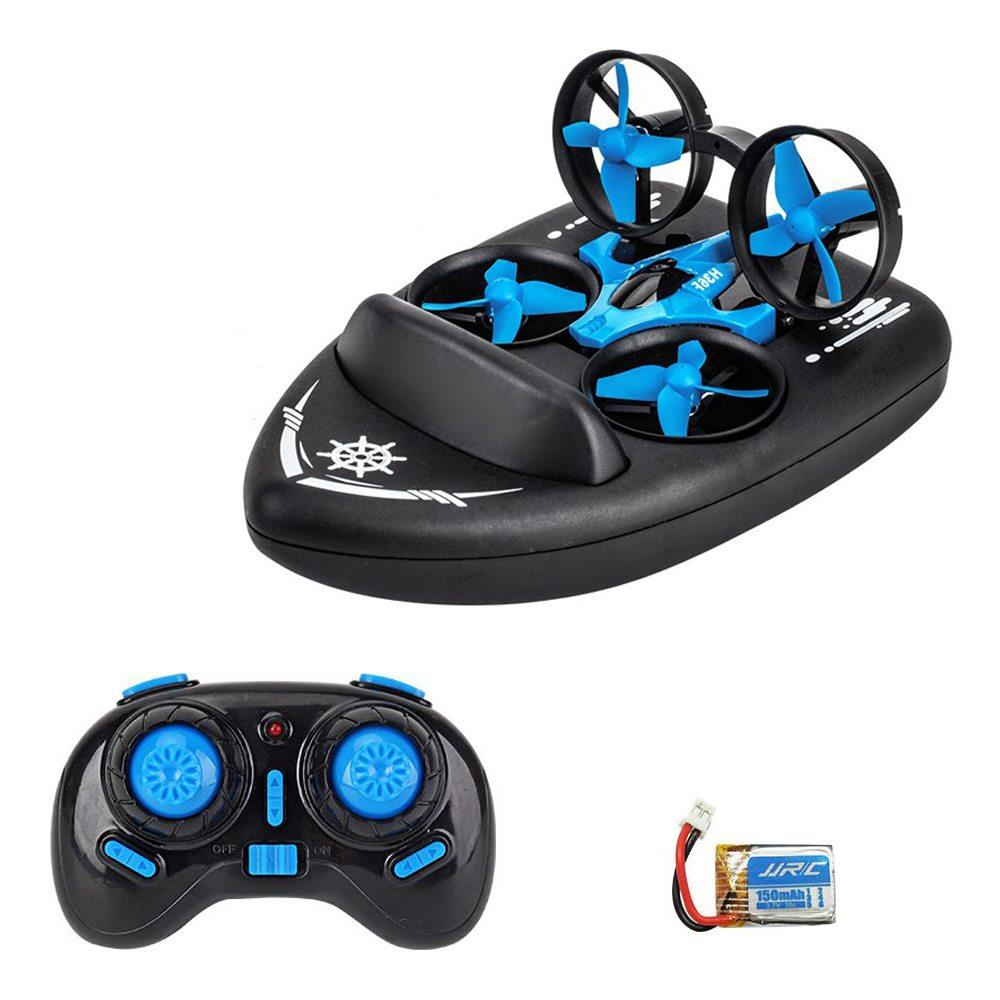 JJRC H36F Terzetto 3 IN 1 Flying Air Boat Land Driving Mode Detachable One Key Return RC Quadcopter RTF - Two Batteries