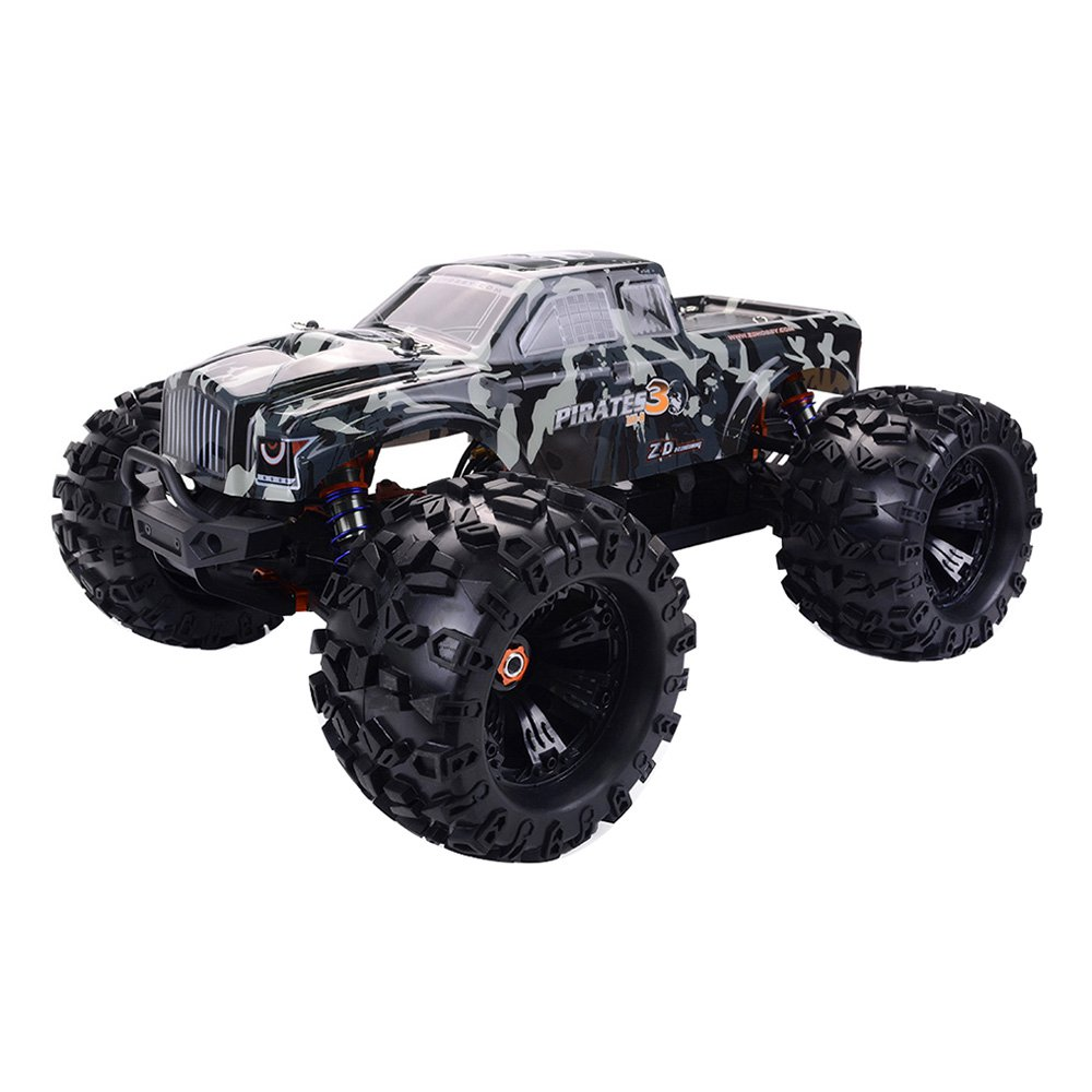 ZD Racing MT8 Pirates 3 1/8 2.4G 4WD 120A Waterproof ESC 90km/h Electric Monster Truck RC Car With Metal Chassis RTR