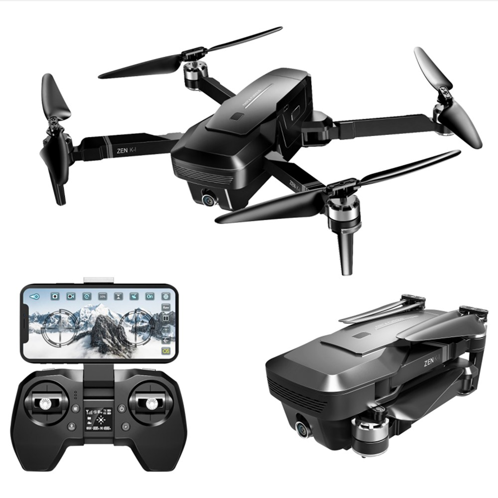 VISUO ZEN K1 4K UHD 5G WIFI FPV GPS Foldable RC Drone With 50X Zoom 30mins Flying Time Dual Camera Switchable RTF