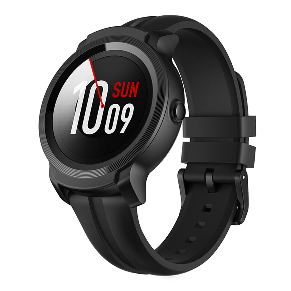 Ticwatch E2 Sports Smartwatch Wear OS di Google 1.39 & quot; Display AMOLED 5ATM GPS resistente all'acqua GPS integrato 24 / 7 Monitor frequenza cardiaca - Nero