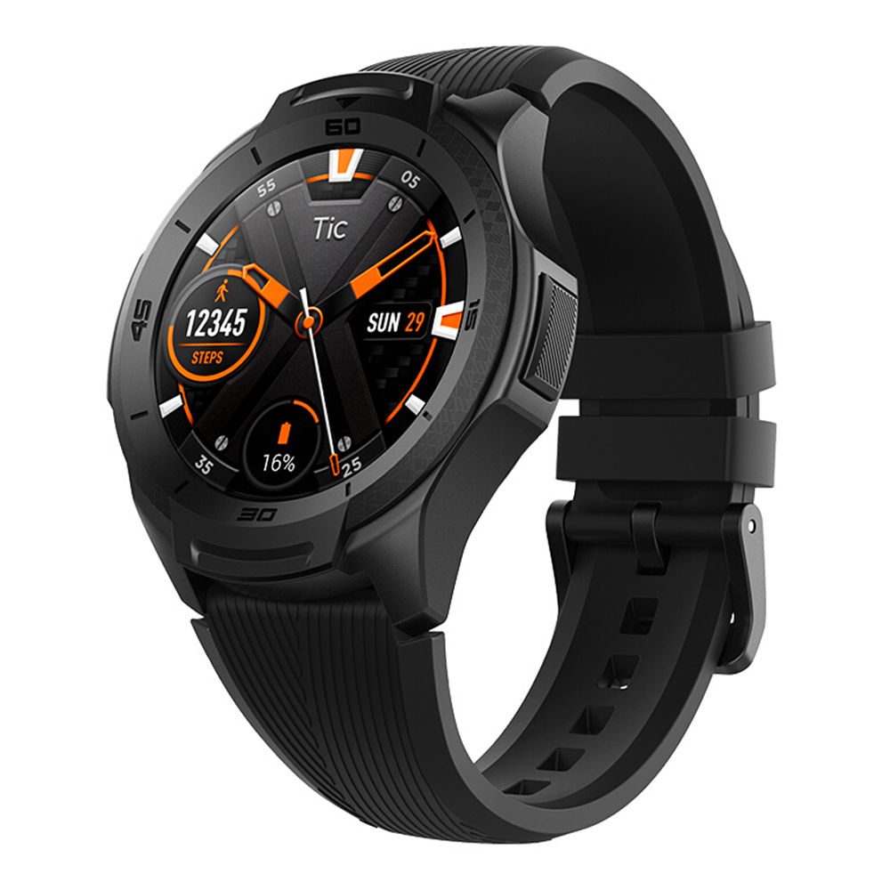 Ticwatch S2 Sports Smartwatch Wear OS di Google 1.39 & quot; Display AMOLED 5ATM Resistente all'acqua MIL-STD-810G GPS integrato 24 / 7 Ore Cardiofrequenzimetro - Nero