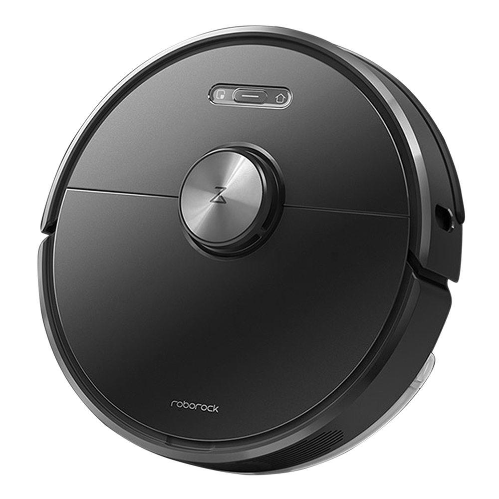 Roborock S6 Robot Vacuum Cleaner APP Virtual Wall 2000Pa Suction LDS Lidar Scanning 5200mAh Global Version - Black