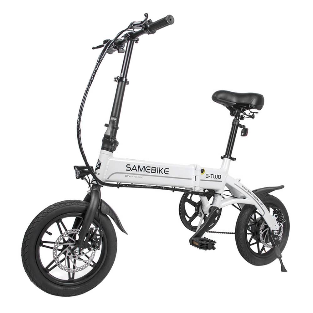 Samebike YINYU14 Faltbarer Smart Fahrrad Moped Elektrofahrrad 250W Motor Max 30km / h 14 Zoll Reifen - Weiß