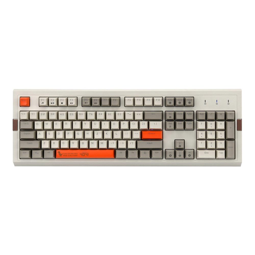 Ajazz AK510 Retro Game Wired Mechanical Keyboard 104 PBT Ball Key Cap RGB Lights Black Switch - Orange + White фото