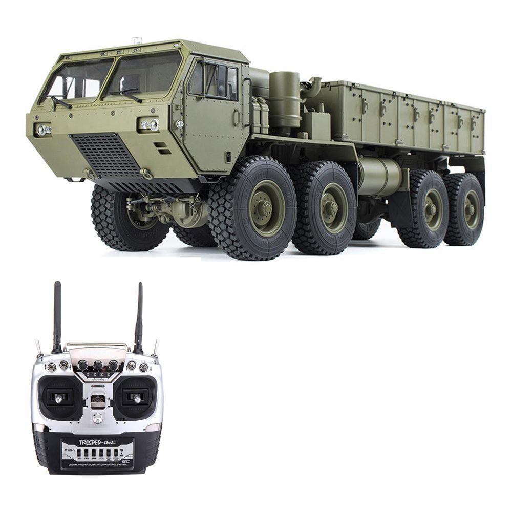 Upgraded Version HG HG-P801 M983 2.4G 8CH 1:12 8x8 US Army Military Truck RC Car Without Battery Charger - Army Green