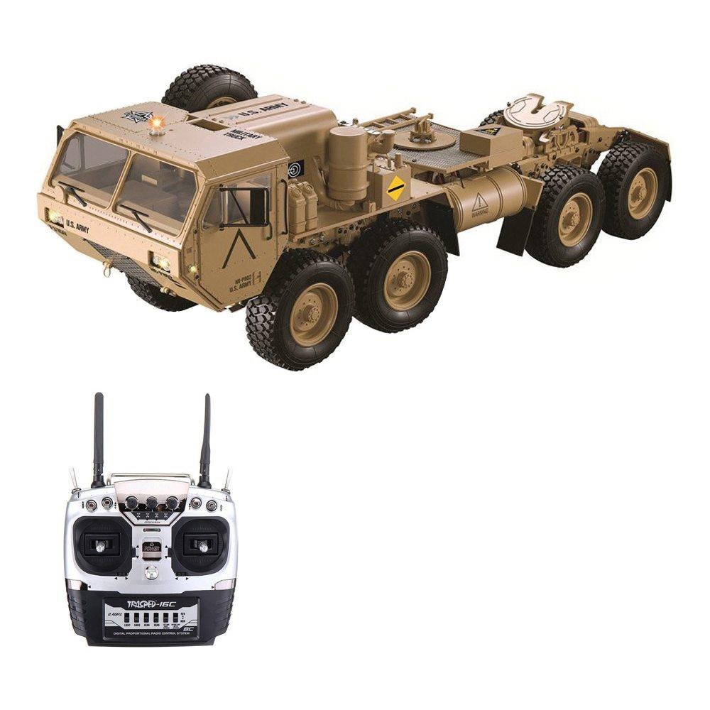 Upgraded Version HG HG-P802 M983 2.4G 8CH 1:12 8x8 US Army Military Truck RC Car Without Battery Charger - Khaki
