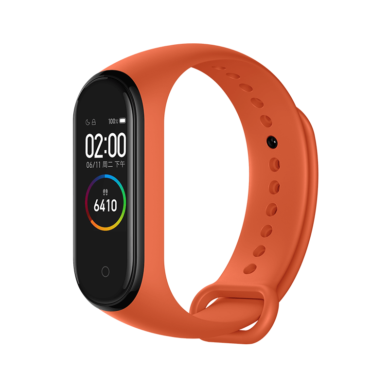 Xiaomi Mi Band 4 Smart Bracelet 0.95 Inch AMOLED Schermo a colori Multifunzione integrato Monitor battito cardiaco 5ATM Water Resistant 20 Days Standby - Orange