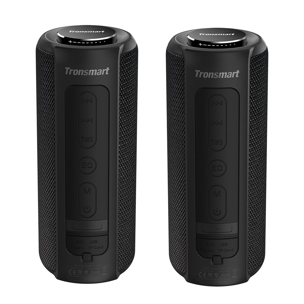 [2 πακέτα] Στοιχείο Tronsmart T6 Plus Φορητό ηχείο Bluetooth 5.0 με μέγιστη έξοδο 40W, βαθύ μπάσο, αδιάβροχο IPX6, TWS - μαύρο