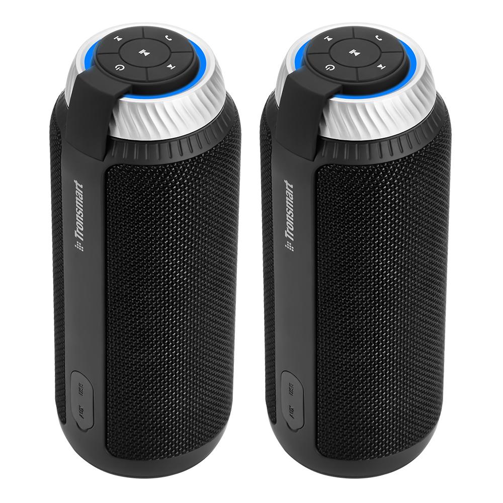 [2 Packs] Tronsmart Element T6 25W Altoparlante Bluetooth portatile con suono stereo a gradi 360 e microfono incorporato - Nero