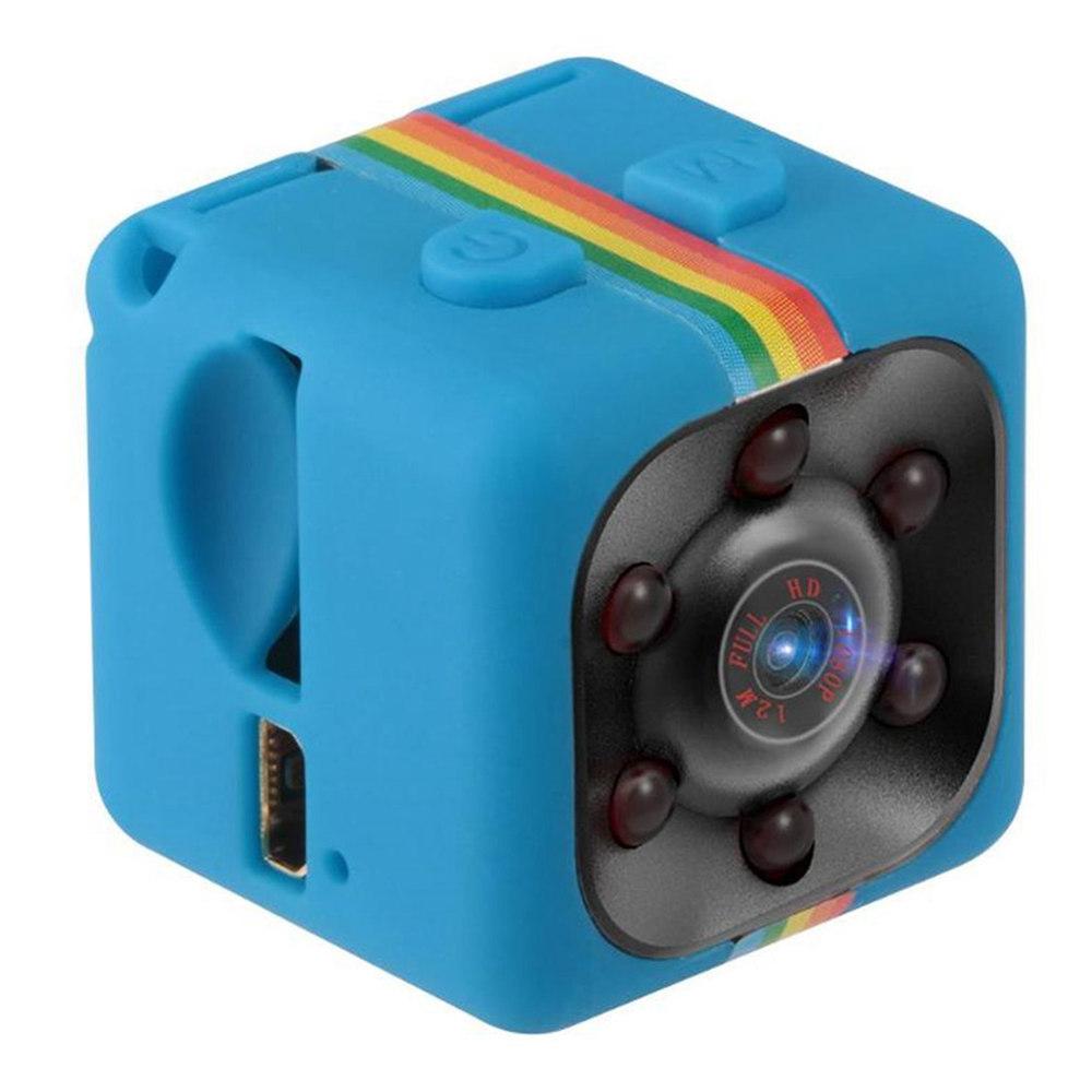 Caméra Quelima SQ11 Mini DV HD Enregistreur de mouvement DV grand angle avec vision nocturne et vision nocturne - Bleu