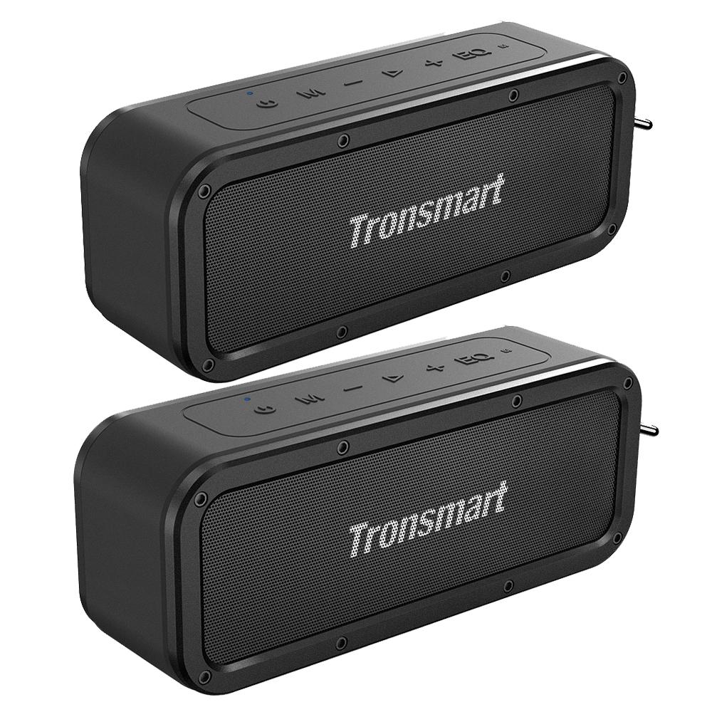 [2パック] Tronsmart Force SoundPulse™40W Bluetooth 5.0スピーカーIPX7耐水性Siri TWSおよびNFC 15 Hours Playtime