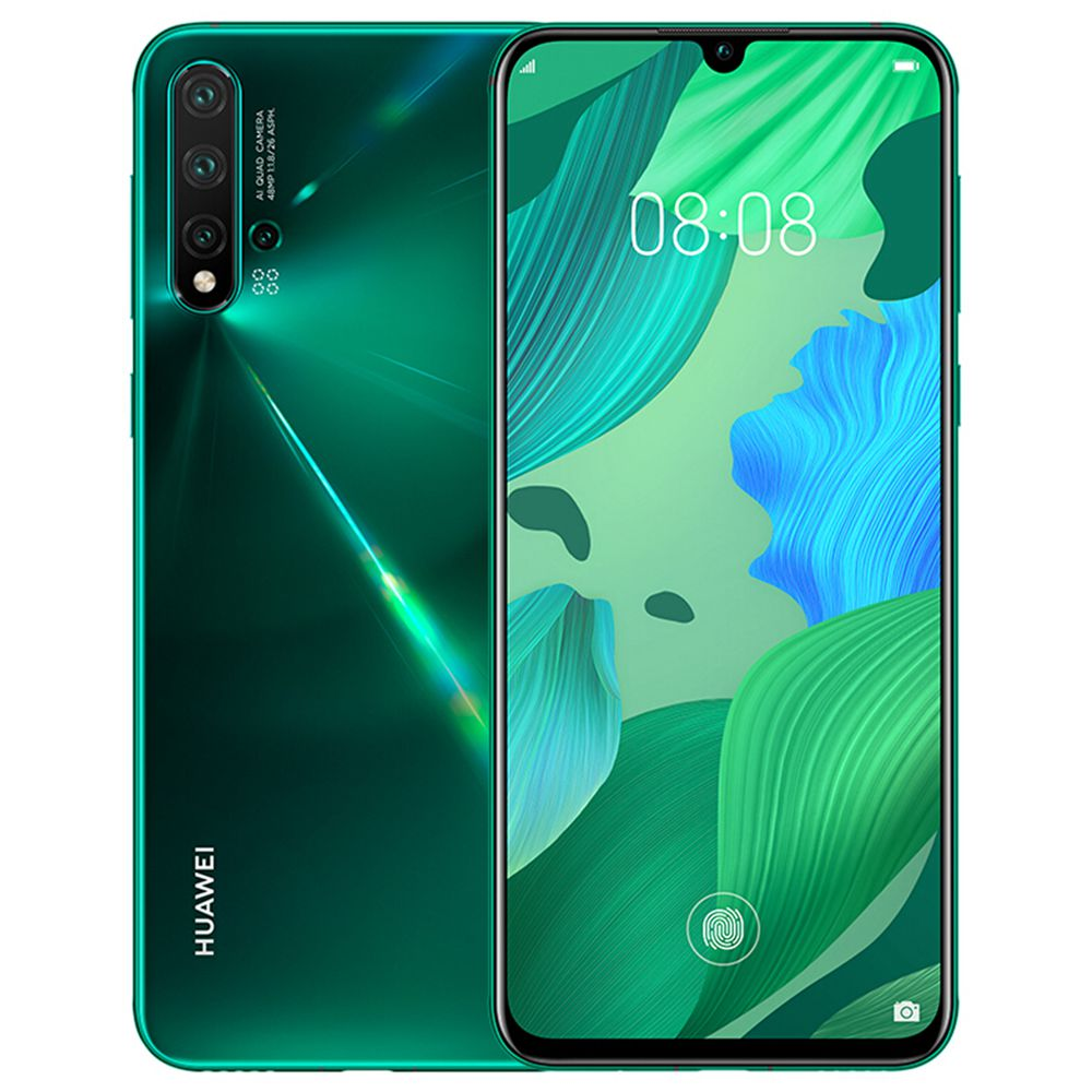 HUAWEI Nova 5 Pro CN Version 6.39 Inch 4G LTE Smartphone Kirin 980 8GB 256GB 48.0MP+16.0MP+2.0MP+2.0MP Quad Rear Cameras Android 9.0 In-display Fingerprint Fast Charge - Green